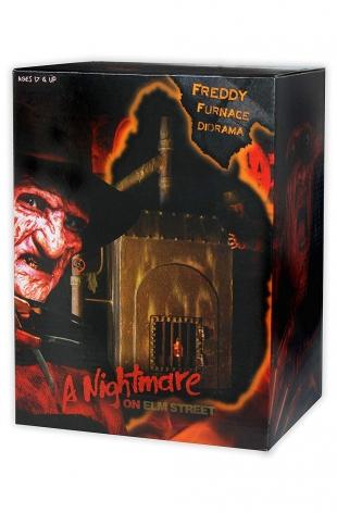 Pesadilla en Elm Street Diorama horno de Freddy 23 cm